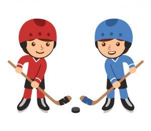 Cartoon hockey players